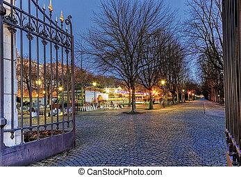 entrada, des, parc, bastiones, ginebra, suiza