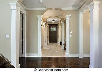 entrada, foyer, arqueado