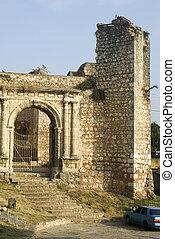 entrada, francisco, domingo, san, colonial, zona, república, monasterio, santo, ruinas, dominicano