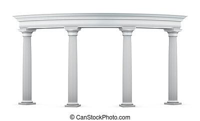 entrada, las columnas se agrupan, estilo, clásico