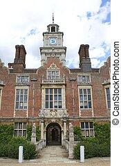 entrada, ornate, torre, relógio