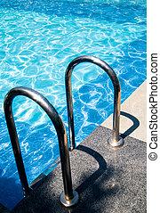 entrada, piscina, natação