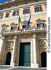 entrada principal, roma, montecitorio, palacio