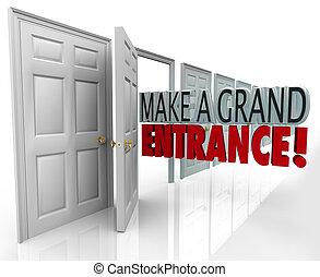 entrada, puerta, introducción, marca, presentación, palabras...