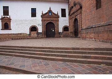 entrada, templo, koricancha