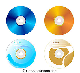 entrambi, set, disco, lati, dvd
