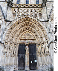 Entrance Arch of the Cathedral of St Andrew in Bordeaux