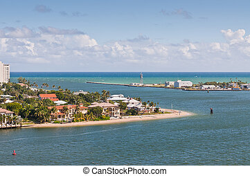 Entrance Channel to Fort Lauderdale, Forida, USA, Harbour