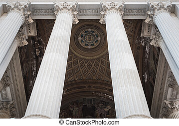 Entrance columns of the Vittorio Emanuele II monument in Rome