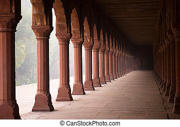 Entrance corridor to the Taj Mahal