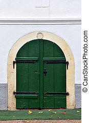 Entrance door to a basement, cellar