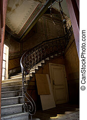 Entrance hall and staricase
