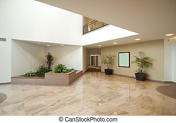 Entrance hall of business office - office building lobby in...