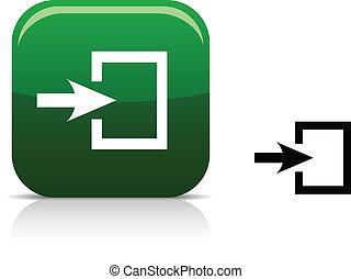 Entrance icon. - . Entrance beautiful icon. Vector...