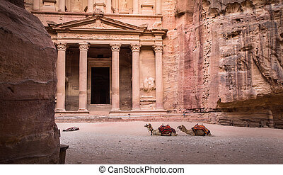Entrance in Ancient City of Petra