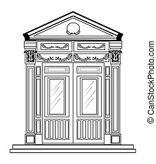 Entrance in classic style
