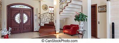 Entrance in classy house - Classy house - entrance, living ...