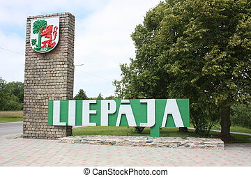 Entrance into the city Liepaya.