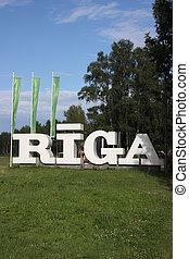 Entrance into the city Riga.