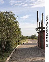 entrance kruger national park orphan gate in south africa