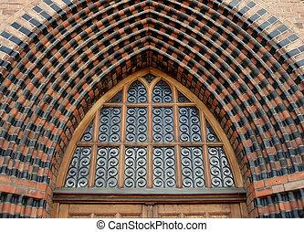 gothic church - Entrance of a gothic church