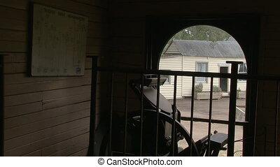 Entrance of a house shot - A medium shot an entrance of a...
