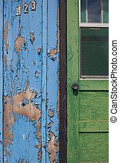 Entrance of abandoned house