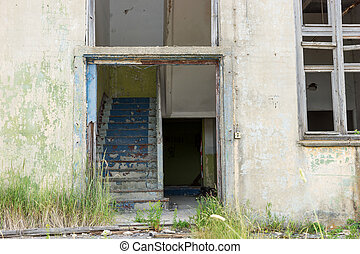 Entrance of an old abandoned house