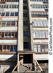 Entrance of apartment - Entrance of old apartment building...