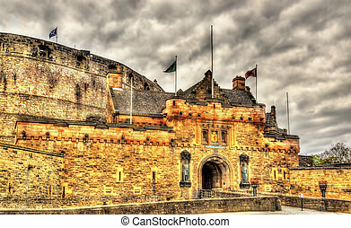 Entrance of Edinburgh Castle - Sc3otland, UK
