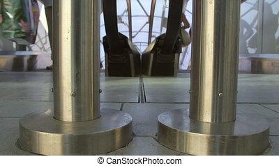Entrance of escalator