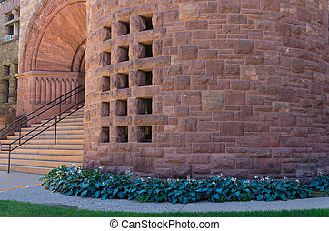 Entrance of Landmark Campus Hall - building entrance to ...