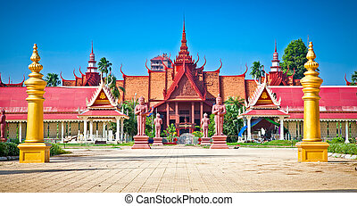 Entrance of National Museum, Phnom Penh, Cambodia.
