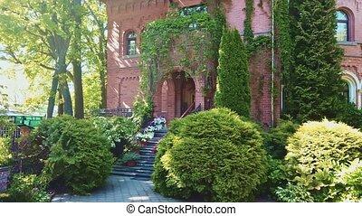 Entrance of old luxury private house, Kaliningrad - Entrance...