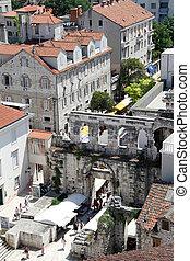 Entrance of palace in Split