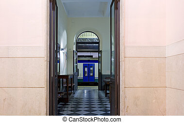 Entrance of railroad station, Syracuse - Sicily