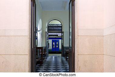 Entrance of railroad station, Syracuse - Sicily