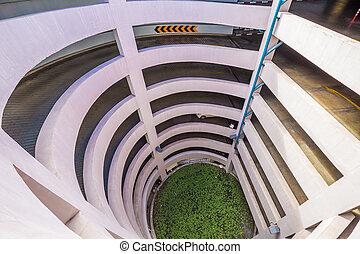 Entrance parking lot