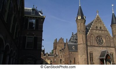 Entrance Ridderzaal (Knights Hall) at the Binnenhof, Centre...