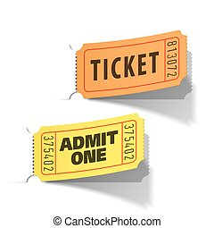 Entrance tickets - Vector illustration of entrance tickets