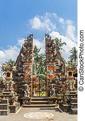 Entrance to a Buddhist temple near Ubud, Bali