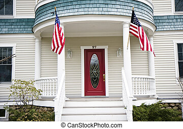 Entrance to a house in USA