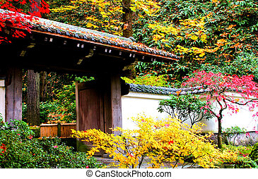 Entrance to a japanese garden