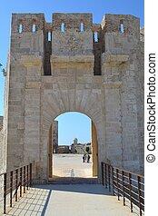 Entrance to Castillo Maniace