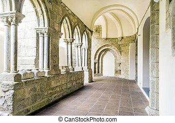 Entrance to Chapel of Bones in Royal Church of St. Francis, Evora, Alentejo, Portugal