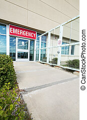 Entrance To Emergency Room At Hospital - Footpath leading...