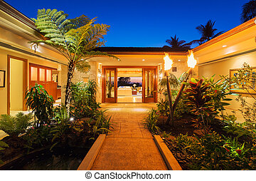 Entrance to Luxury Home - Beautiful Garden Entrance to...