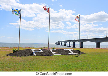 Entrance to P.E.I. - Confederation Bridge, the entrace to...