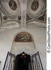Entrance to Saint George Church - Bucharest, Romania