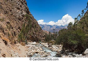 Entrance to Santa Cruz Trek, Peru,